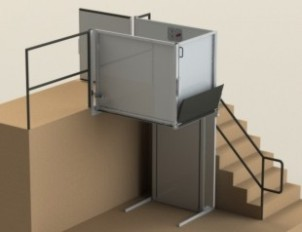 indoor wheelchair lift area access
